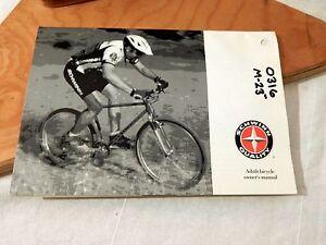 vintage schwinn adult bicycle owner s manual 1992 mountain bike ebay rh ebay com schwinn bike service manual schwinn stationary bike owners manual