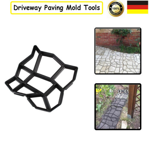 Garten Patio Driveway Road Path Walk Maker Paving Pavement Mold  Stepping Stone