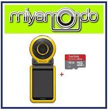 Casio Exilim FR100 Action Camera + Sandisk Ultra microSD 16GB (Yellow)