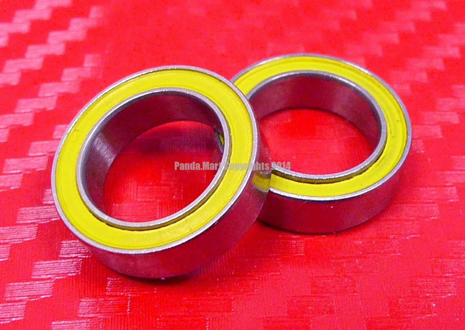 [QTY 10] S6805C-2OS ABEC-5 HYBRID CERAMIC Yellow Ball Bearings 25x37x7 25377