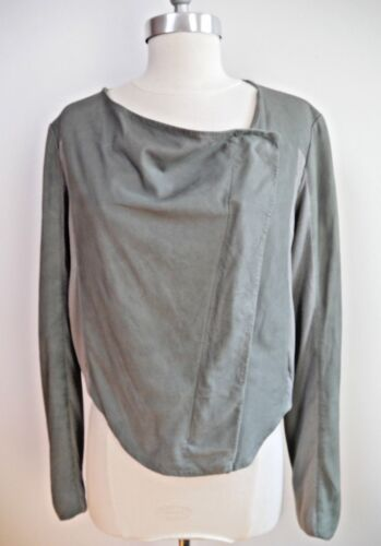 With Knit M Once Zip Leather Gray Jacket Helmut Size Up Drape Lang Worn Inserts Ow0xP8