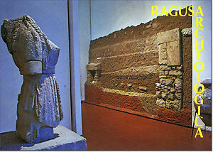 CARTOLINA-SICILIA-POSTCARD-SICILY-RAGUSA-MUSEO-ARCHEOLOGICO