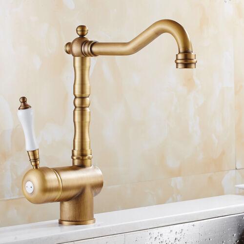 Retro Badarmatur Mischbatterie Waschbecken Spültisch Wasserhahn Einhandmischer