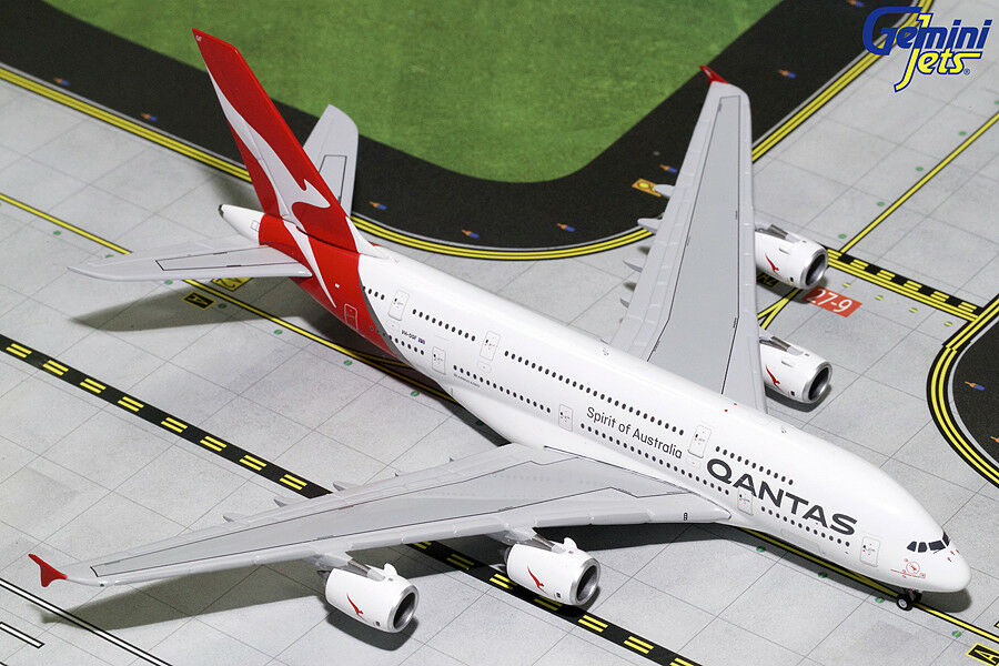 GEMINI JETS QANTAS AIRWAYS AIRBUS A380-800 1 400 DIECAST GJQFA1783 IN STOCK