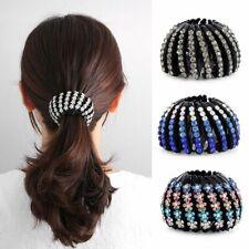 Crystal Hair Bun Maker Bird Nest Hair Claw Ponytail Clamps Hair Fold Wrap