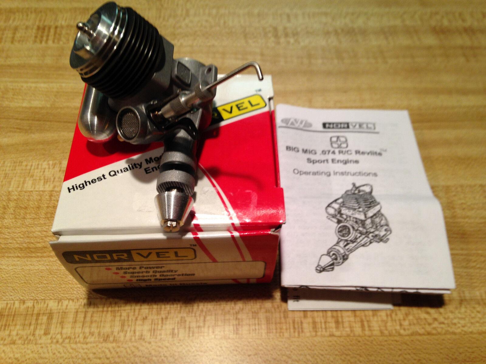 New R C Norvel Big Mig .074 Revlite Sport Engine - B7R WithThrossotle