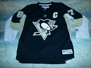 the latest 7c200 391ce Details about SIDNEY CROSBY #87 PITTSBURGH PENGUINS HOME REPLICA HOCKEY  JERSEY YOUTH L/XL