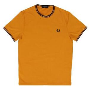 Fred-Perry-Men-039-s-Amber-Twin-Tipped-T-Shirt