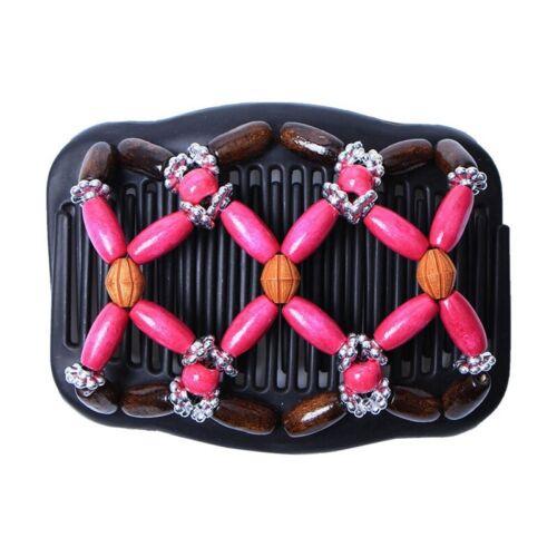 Trend African Hairclip Haarklammer Butterfly Holzdesign in Blüten Design Braun