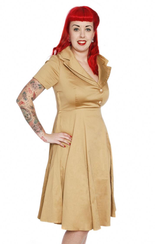 50s Stile Vestito 12 14 40V DRESS 12 Rockabilly Dress 12 Stile Vintage Nuovo