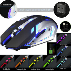 Gaming-Mouse-Rechargeable-X7-Wireless-Silent-LED-Backlit-USB-Optical-Ergonomic