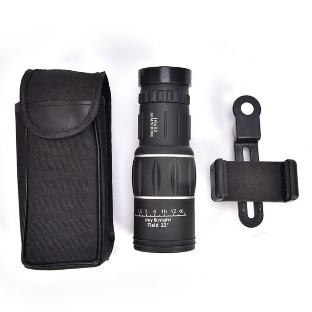 16x52 Zoom Hiking Monocular Telescope Lens Camera HDScope Hunting+Phone HolderBI