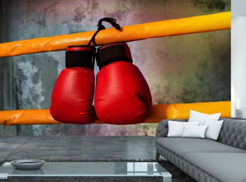 Boxing Ring  Photo Wallpaper Wall Mural DECOR Paper Poster Boxing Gloves