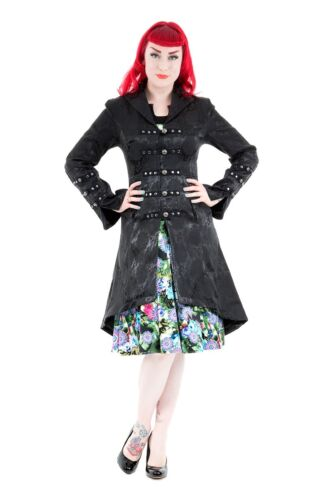 Gothic Back Steampunk Coat Corset Womens Jacket Rave Victorian Andromeda Brocade ZwYfpq