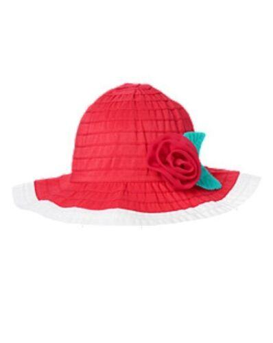 NWT Gymboree Swim Shop 3D Flower Rosette Ribbon Sunhat Sun Hat NEW 2T 3T 4T 5T
