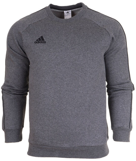 49bbe62459bc adidas Mens Core Fleece Crew Training Sweatshirt Sports Overhead Gym Sweat  Top Grey XL