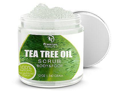 Antifungal Tea Tree Oil Body & Foot Scrub Exfoliator - Fungal Acne Bacteria Itch