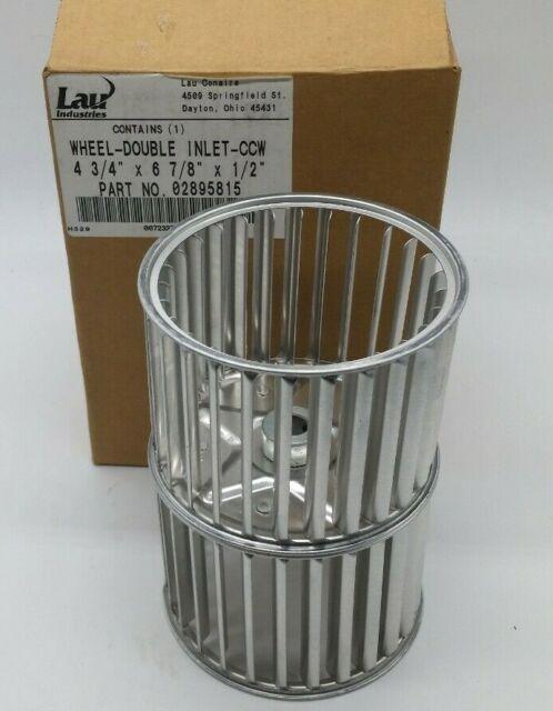 Lau 5 3//4 X 7 5//8 X 1//2 Aluminum Double Inlet Blower Wheel CW