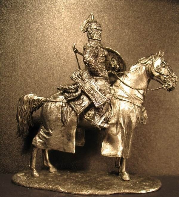 Lead soldier toy,Mongolian khan ,on the horse,collectable,rare,gift,detaile