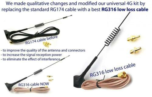 Universal Kit of 3G 4G LTE Dipole Antenna Wide Band 7dBi 698-2700Mhz Omni...