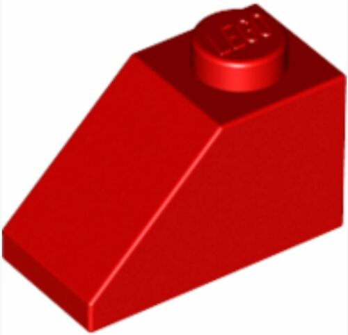 3040 /_Bright Red 4121934/_LEGO Roof Tile 1x2//45° Lot of 25