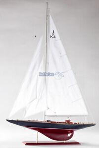 Endeavour Segelyacht Segelschiff Modell Standmodell Maritim Holz Yacht Deko neu