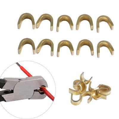 1//5pcs archery bow string protective buckle clip nock set brass nocking poi A8A