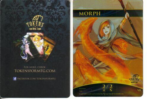 Tokens for MTG Morph Token FOILNMaltered Art Promo