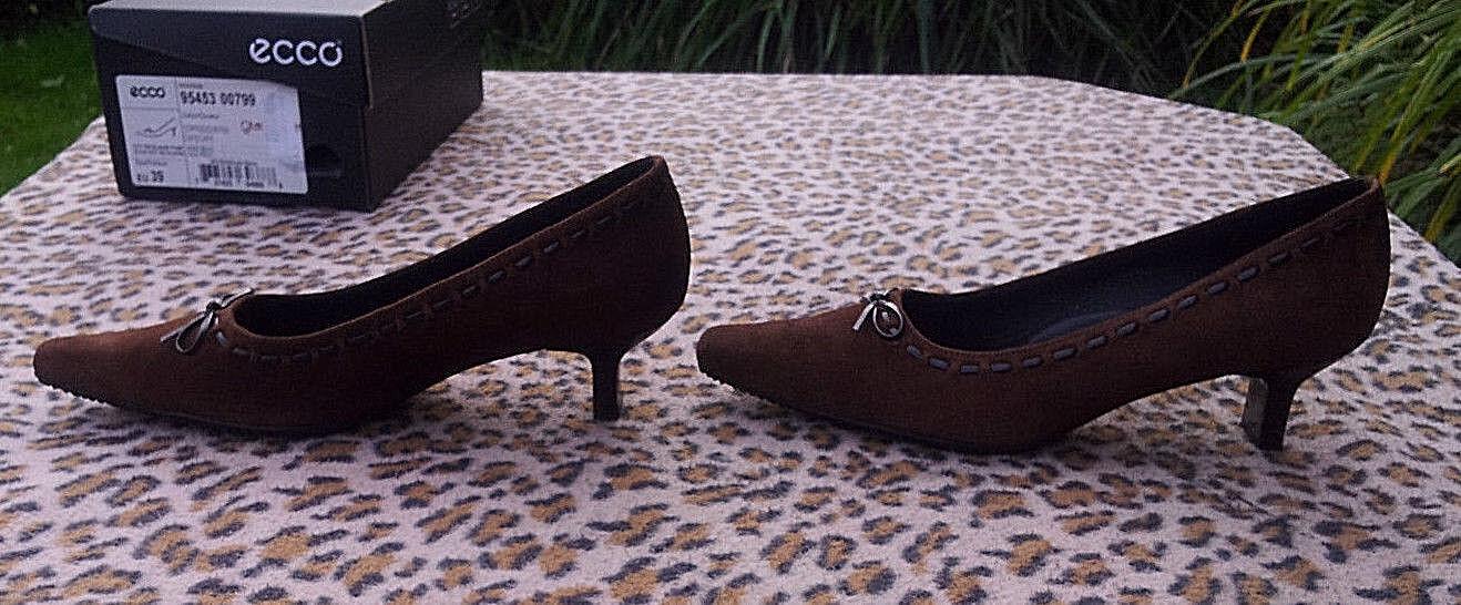 Zapatos De Cuero Ecco Ecco Ecco Gamuza Marrón Uk Talla 6 EU 39  artículos de promoción