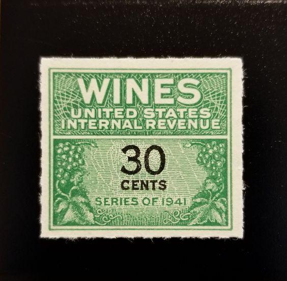 1942 30c U.S. Internal Revenue, Cordial & Wine, Green S