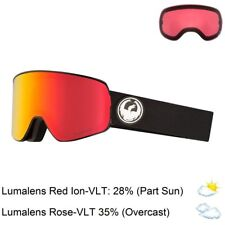 """1 Light Rose Snow Goggles Dragon Alliance /""""X1s/"""" SN-17079 Mill Lumalens Red Ion"""