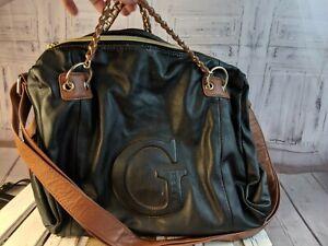Guess-purse-Bag-tote-handbag-satchel-travel-carry-crossbody-black-brown