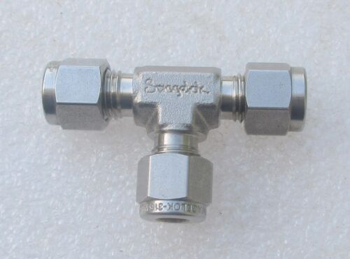 """Swagelok  1//4/""""  Stainless Steel Fitting Tee SS-400-3  Several Available  New"""