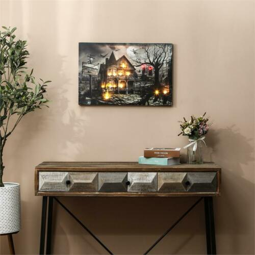 Luxen Home Haunted House Canvas Print with LED Lights