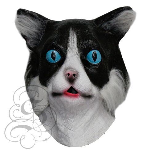 Latex Full Head Cartoon Animal Cat with Fur High Quality Fancy Carnival Masks