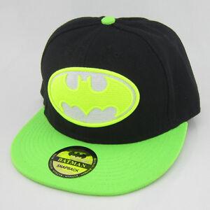 Image is loading New-Green-Black-batman-hiphop-Snapback-Adjustable-baseball- bcad99290366