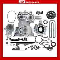 Toyota 2.4l Timing Cover Chain Kit W/ Hd Steel Rail Oil & Water Pump 22re Pickup