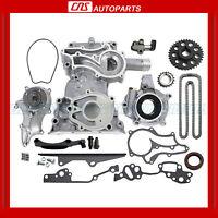 Toyota 2.4l Timing Cover Chain Kit W/ Hd Steel Rail Oil & Water Pump 22re Pickup