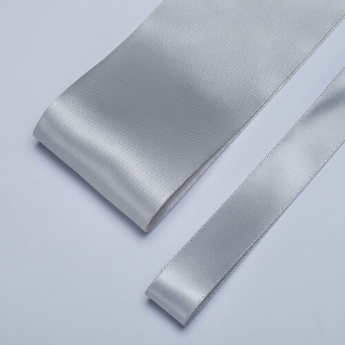 "Double Sided Satin Ribbon Craft,50mm,2"" /& 19mm,¾"" Bridal Colours Wedding Neotrim"