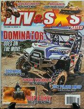 ATV & SXS Vol 13 Issue 10 Dominator Yamaha Polaris Deep Dirty FREE SHIPPING sb