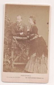 Vintage-CDV-Prince-Edward-amp-Princess-Alexandra-of-Wales-Hills-amp-Saunders-Photo