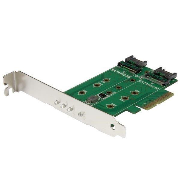 Startech.com 3-Port M.2 SSD ( Ngff ) Carte Adaptateur - 1 X Pcie ( Nvme ) M.2,2