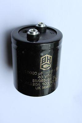 Terminaux 30x50mm Philips 4700uF 40 V condensateurs DC 2 SOLDER LUG Plain Neg