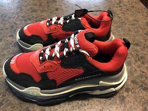 Balenciaga Triple S Logo Sneakers Red