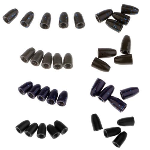 4~5Pcs Fishing Tungsten Worm Weights Bullet Shape Sinker Insert-free Weights