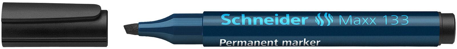 Permanentmarker Maxx 133 SCHWARZ Permanent Marker 1-4mm 10 Stk Keilspitze
