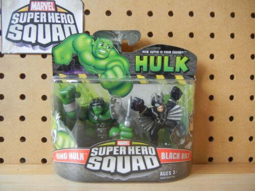 KING HULK /& BLACK BOLT Inhumans Marvel Super Hero Squad SEALED Hulk Wave 2