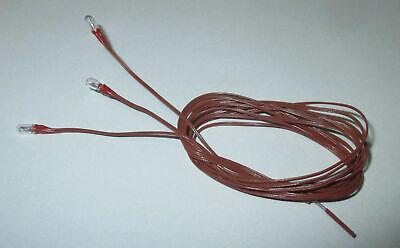 Glühbirne mit 50cm Kabel weiß  3,5Volt Krippen//Puppenhäuser Kahlert 3 Stück