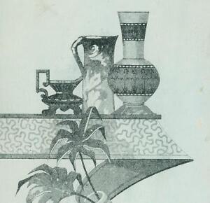 La foto se está cargando Hager-amp-Bro-Papel-Tapiz-Cortinas-1883-tarjeta-