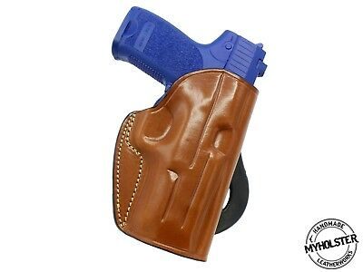 Quick Draw Brown Leather Belt Slide Holster For Smith /& Wesson M/&P Shield 40,9mm